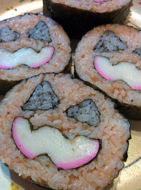 ハロウィンデコ巻き寿司