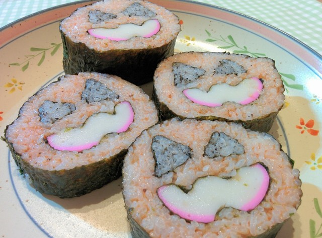 ハロウィン巻き寿司