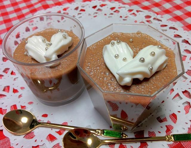 バレンタインチョコプリン