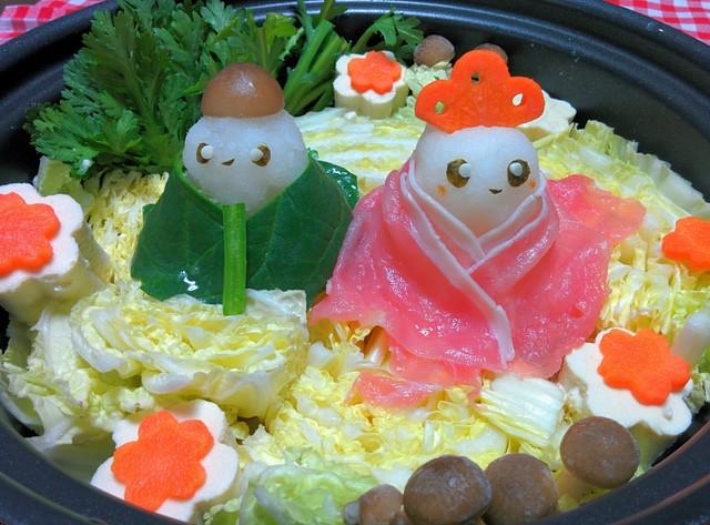 ひな祭りデコ鍋