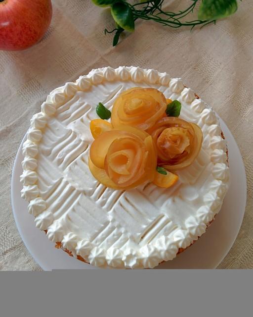 アップルローズケーキ